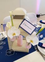 Nom de table sur lanterne mamzelle crée