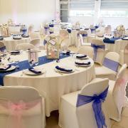 Décoration mariage bleu et rose by mam'zelle crée
