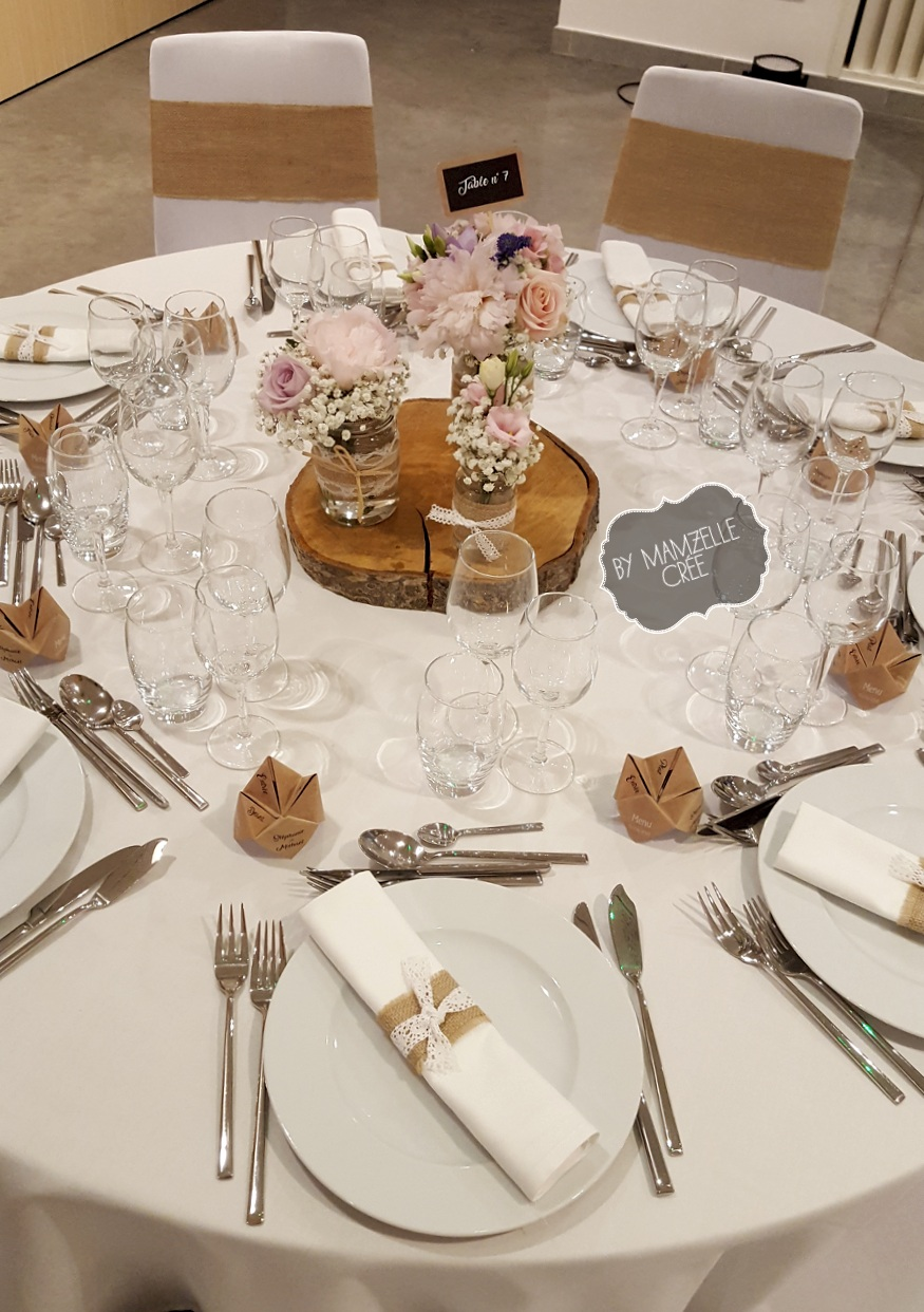 Décoration table champêtre mamzelle crée