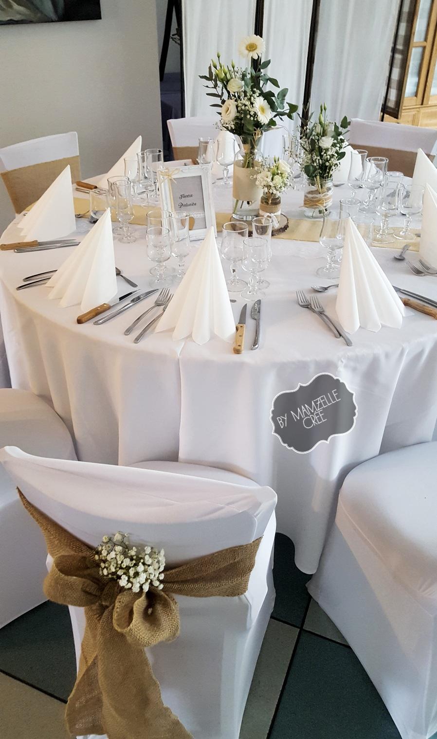 Deco de table champêtre mamzelle crée