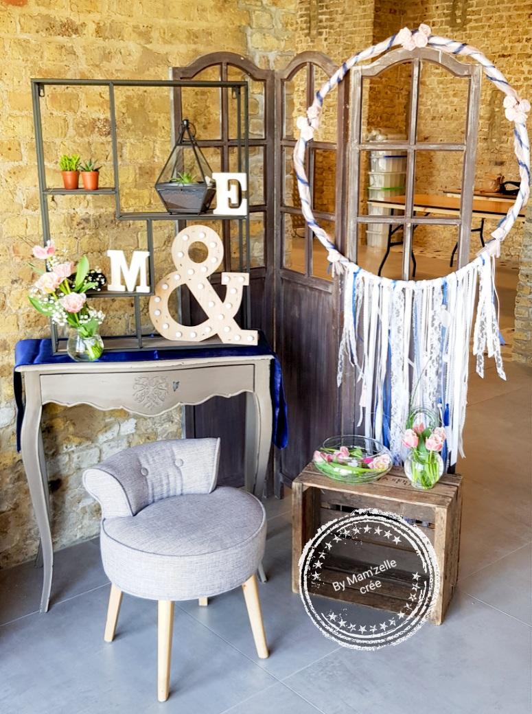 espace photos mariage bohème Mam'zelle crée