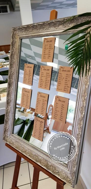 plan de table mariage miroir Mam'zelle crée