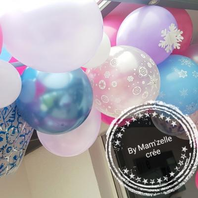 Decor ballons reine des neiges