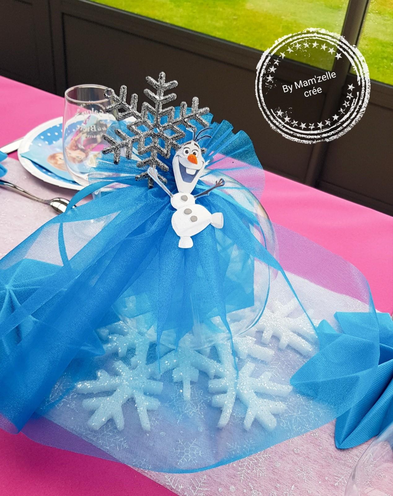 Centre de table reine des neiges