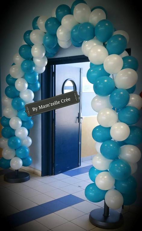 Arche de ballons bicolore