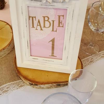 Cadre nom de table champêtre Mam'zelle crée