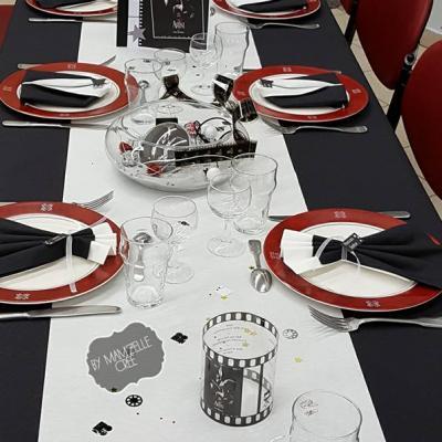Décoration de table cinéma Mam'zelle crée