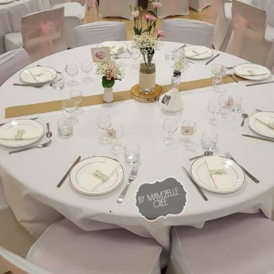 décoration mariage champetre rose pâle mamzelle cree