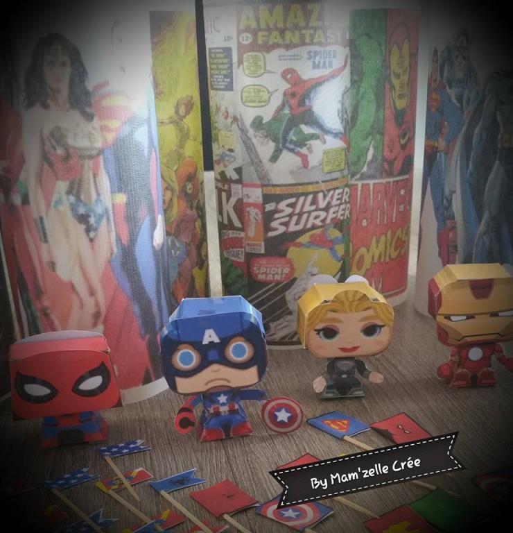 decoration table comics mam'zelle crée