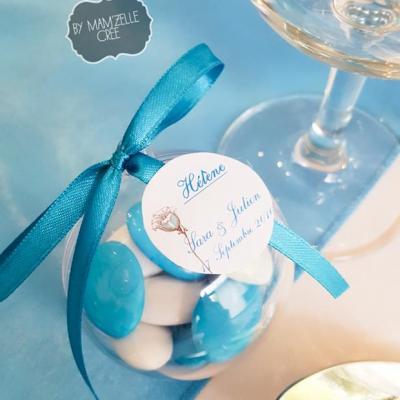 Dragées boules bleu