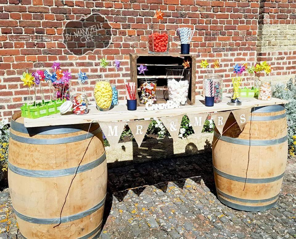 Candy bar tonneaux by mamzelle crée