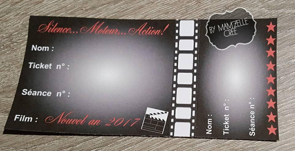 Invitations cinéma Mam'zelle crée