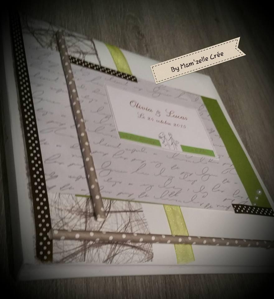 Livre d'or chocolat vert olive