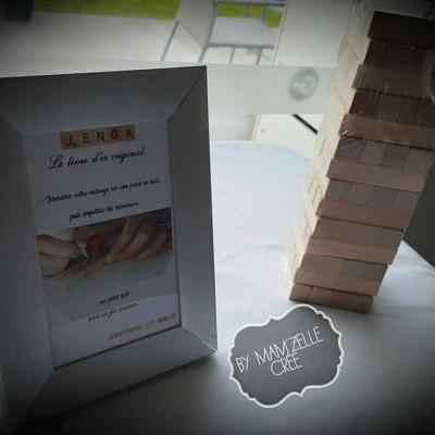 livre d'or jeux jenga mam'zelle crée