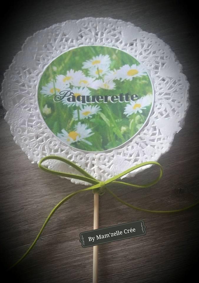 Nom de table fleurs à piquer