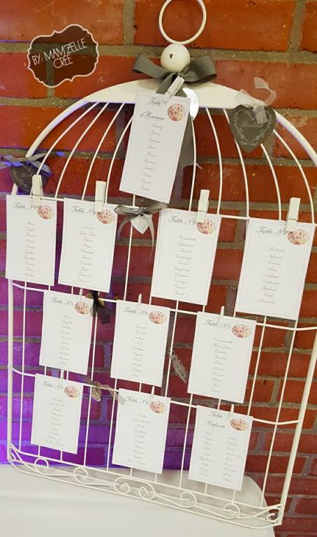 plan de table cage champetre mamzelle cree