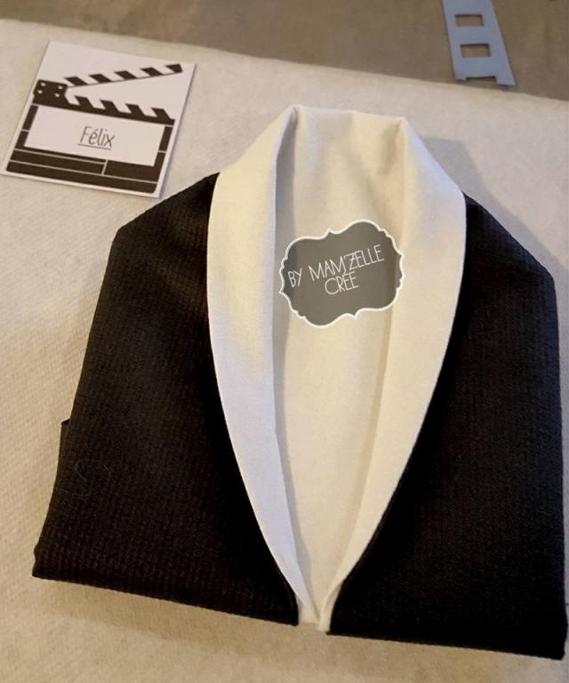 Pliage de serviettes cinéma Mam'zelle crée
