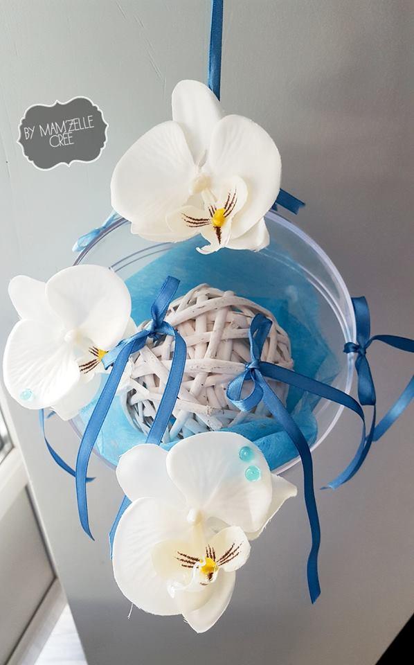 Porte alliances boule et orchidées
