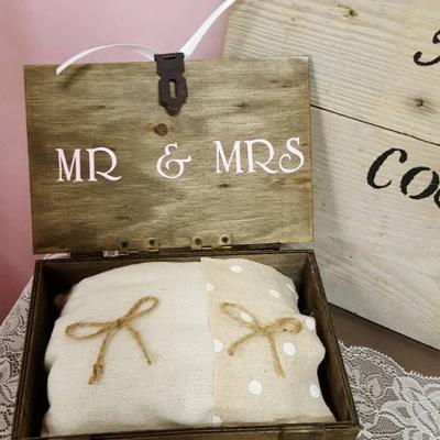 Porte alliances Mr. & Mrs champêtre