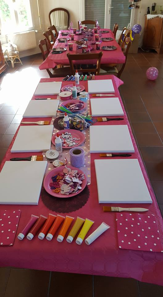Préparation anniversaire enfants