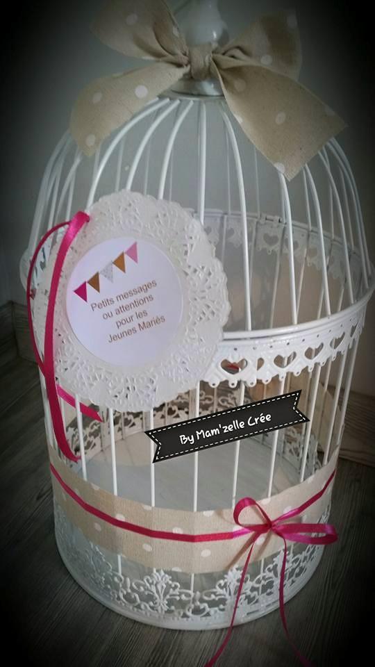 Urne cage Mam'zelle crée