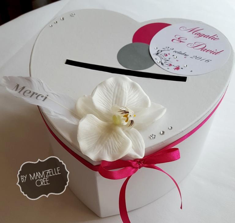 urne coeur mariage rose gris mamzelle cree