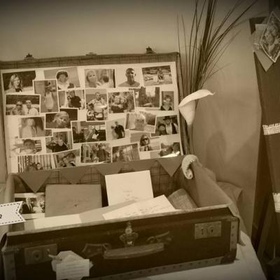 Urne valise vintage Mam'zelle crée